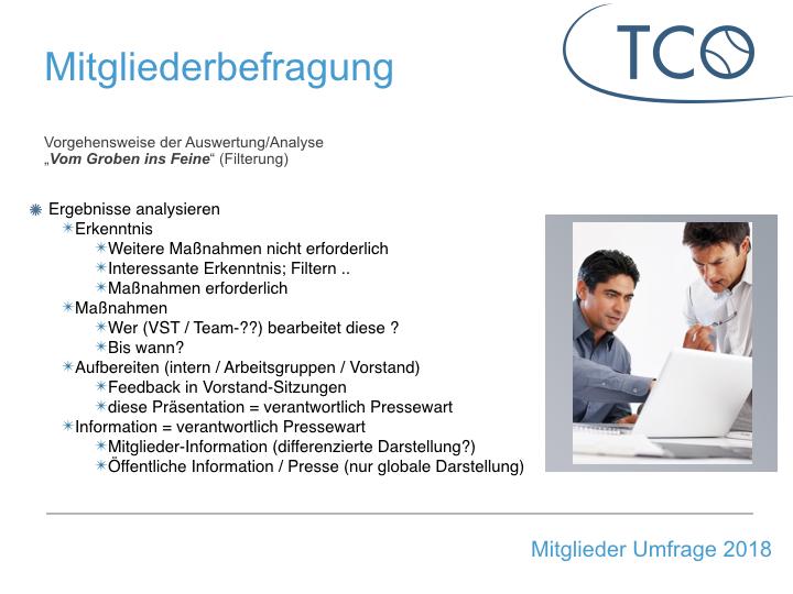 Mitgliederumfrage des TCO ist beendet ..