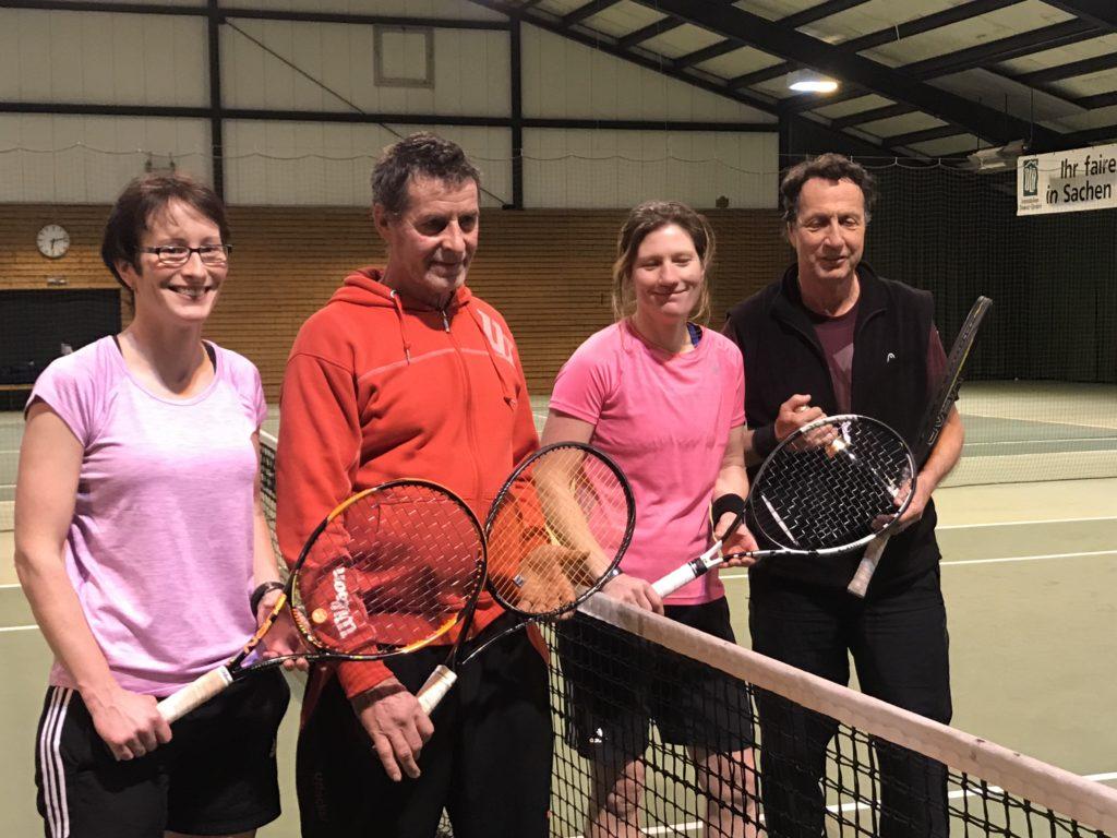 Mixedturnier im März in der Tennishalle des Ballhauses 1