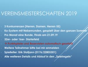 Read more about the article Vereinsmeisterschaften gestartet