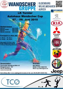 Read more about the article Wandscher Cup – Weser-Ems-Serie – Pfingst Termin !