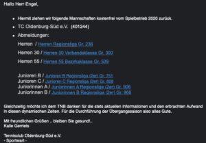 Read more about the article Punktspiel Saison 2020