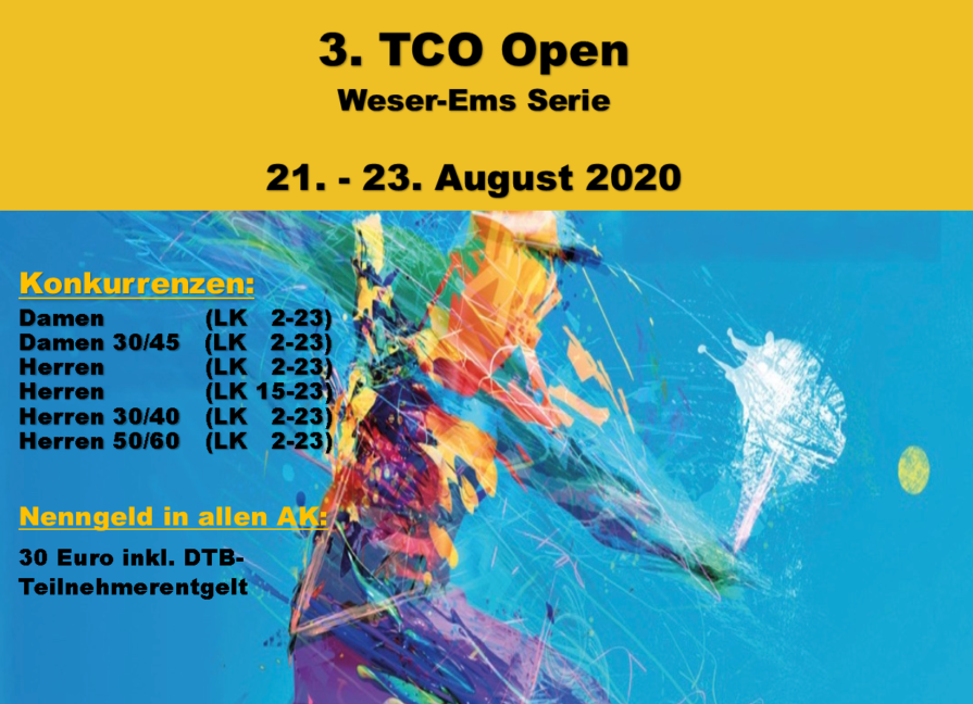 3. TCO Open im August