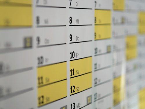 Unser Jahreskalender
